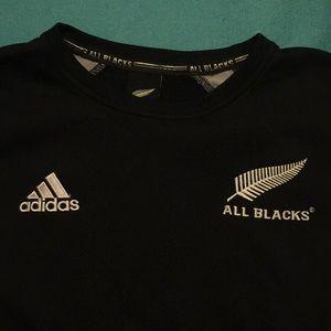 Men's Adidas All Blacks Rugby Crewneck Pullover